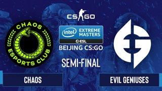 CS:GO - Evil Geniuses vs. Chaos [Inferno] Map 2 - IEM Beijing 2020 Online - Semi-final - NA