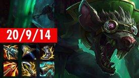 Twitch 20/9/14, 3x TRIPLEKILL! 33K Damage, 16K Gold, Patch: 11.1.1 League Of Legends
