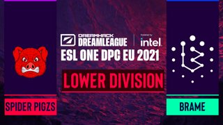Dota2 - Spider Pigzs vs. Brame - Game 1 - DreamLeague Season 14 DPC: EU - Lower Division