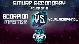 Scorpion Master vs YouAlreadyKnow - Smurf Secondary: Round of 16 - Smash Summit 10 | Mario vs Fox