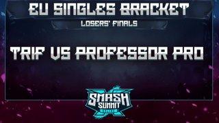 Trif vs Professor Pro - EU Singles Bracket: Losers' Finals - Smash Summit 10 | Peach vs Fox