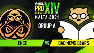CS:GO - Bad News Bears vs. ENCE [Nuke] Map 2 - ESL Pro League Season 14 - Group A