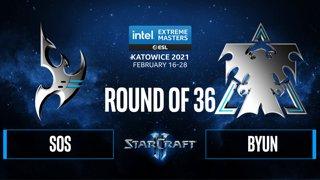 SC2 - sOs vs. ByuN - IEM Katowice 2021: Round of 36