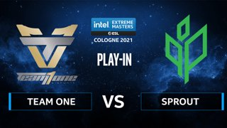 CS:GO - Sprout vs Team One [Dust2] Map 2 - IEM Cologne 2021 - Play-In