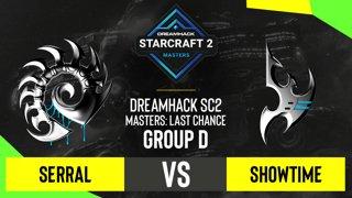 SC2 - Serral vs. ShoWTimE - DH SC2 Masters 2020: Last Chance 2021 - Group D