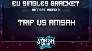 Trif vs Amsah - EU Singles Bracket: Semifinals - Smash Summit 10 | Peach vs Sheik
