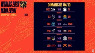 WORLDS 2020 - GROUP STAGE - JOUR 2