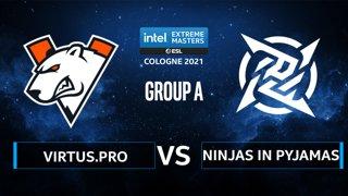 CS:GO - Ninjas in Pyjamas vs Virtus.pro [Inferno] Map 2 - IEM Cologne 2021 - Group A