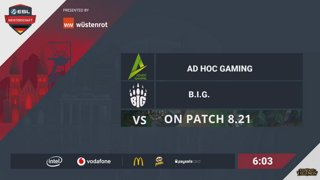 ESL Meisterschaft match day 4 - Team BIG vs mousesports and ad hoc gaming vs Tempered Fate