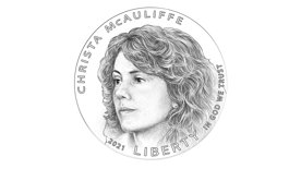 Honoring Christa McAuliffe - Official unveil of the Christa McAuliffe Commemorative Coin