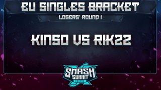 Kins0 vs Rikzz - EU Singles Bracket: Losers' Round 1 - Smash Summit 10 | Falco vs Fox