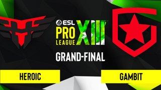 CS:GO - Gambit vs. Heroic [Overpass] Map 4 - ESL Pro League Season 13 - Grand-Final