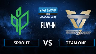 CS:GO - Sprout vs Team One [Mirage] Map 3 - IEM Cologne 2021 - Play-In