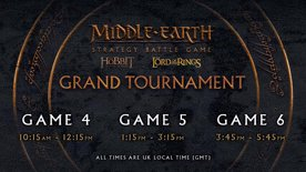 Middle-earth™ Strategy Battle Game Grand Tournament - Day 2: Game 4, Game 5, and Game 6