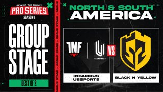 INF.UESPORTS vs Black N Yellow Game 2 - BTS Pro Series 8 AM: Group Stage w/ rkryptic & neph