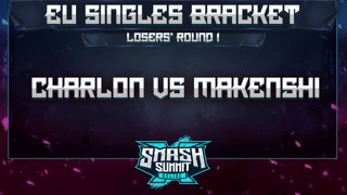 Charlon vs Makenshi - EU Singles Bracket: Losers' Round 1 - Smash Summit 10 | Fox vs Marth