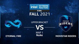 CS:GO - Eternal Fire vs. Movistar Riders [Nuke] Map 1 - IEM Fall Closed Qualifiers 2021 - Europe - Upper Bracket