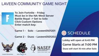 Highlight: NASEF Scholastic Fellows Takeover: Fortnite Friday. | Community Club | !btg