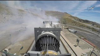 Space Launch System Rocket Booster Test
