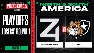 4 Zoomers vs FG Game 1 - BTS Pro Series 8 AM: Playoffs w/ Kmart & ET