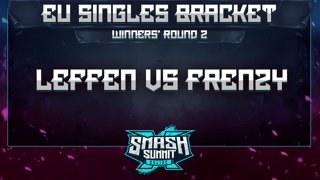 Leffen vs Frenzy - EU Singles Bracket: Semifinals - Smash Summit 10 | Fox vs Falco