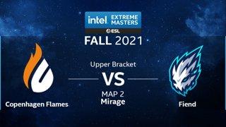 CS:GO - Copenhagen Flames vs. Fiend [Mirage] Map 2 - IEM Fall Closed Qualifiers 2021 - Europe - Upper Bracket