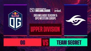 Dota2 - Team Secret vs. OG - Game 2 - DreamLeague S15 DPC WEU - Upper Division
