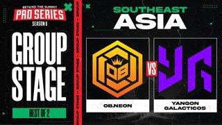 OB.Neon vs Yangon G Game 1 - BTS Pro Series 8 SEA: Group Stage w/ Ares & Danog