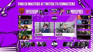 European Masters Spring 2020 | Groups | Day 7 - MRS vs. SNG