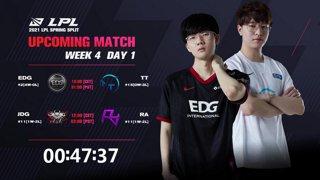 EDG vs. TT | JDG vs. RA  - Week 4 Day 1 | LPL Spring Split (2021)