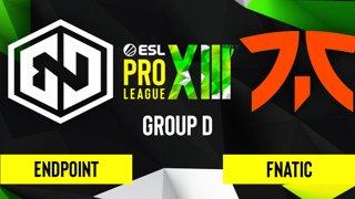 CS:GO - Endpoint vs. Fnatic [Inferno] Map 1 - ESL Pro League Season 13 - Group D
