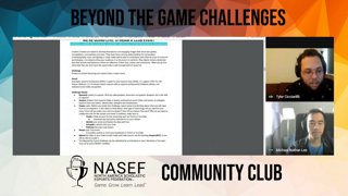 Highlight: Beyond the Game Challenge Overview with EAs Michael and Tyler | NASEF Community Club