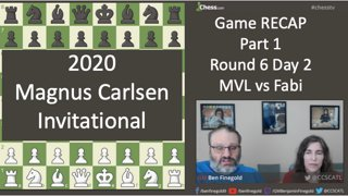 Recap Pt 1: MVL vs Fabi Magnus Carlsen Invitational - ROUND 6 - DAY 2 - RECAP - April 29. 2020