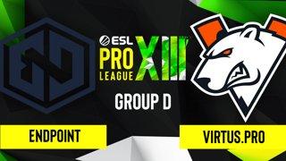 CS:GO - Virtus.pro vs. Endpoint [Overpass] Map 2 - ESL Pro League Season 13 - Group D