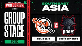 SMG vs BOOM Game 1 - BTS Pro Series 8 SEA: Group Stage w/ Ares & Danog