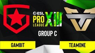 CS:GO - TeamOne vs. Gambit [Mirage] Map 2 - ESL Pro League Season 13 - Group C