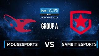 CS:GO - Gambit Esports vs mousesports [Vertigo] Map 2 - IEM Cologne 2021 - Group A