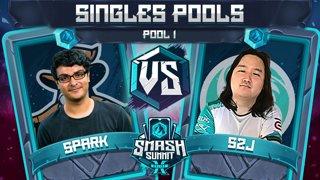 Spark vs S2J - Singles Pools: Pool 1 - Smash Summit 10 | Sheik vs Captain Falcon