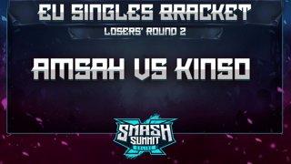 Amsah vs Kins0 - EU Singles Bracket: Losers' Round 2 - Smash Summit 10 | Sheik vs Falco
