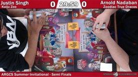 ARGCS Summer Invitational 2017 Semi Finals Justin Singh vs Arnold Nadaban