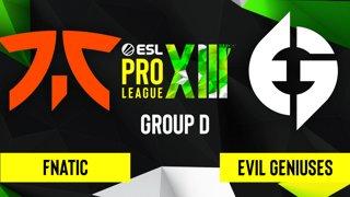CS:GO - Evil Geniuses vs. Fnatic [Inferno] Map 2 - ESL Pro League Season 13 - Group D