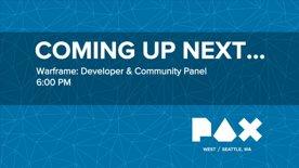 PAX WEST 2016 - Warframe Dev vs Community Panel!