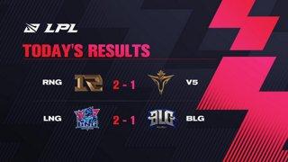 RNG vs. V5 | LNG vs. BLG  - Week 4 Day 2 | LPL Spring Split (2021)