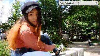 ダイジェスト:JP/EN🧡Japan! Japanese girls Cruising around with longboard🧡