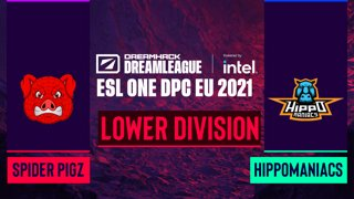 Dota2 - Hippomaniacs vs. Spider Pigzs - Game 2 - DreamLeague Season 14 DPC: EU - Lower Division