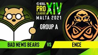 CS:GO - Bad News Bears vs. ENCE [Overpass] Map 1 - ESL Pro League Season 14 - Group A