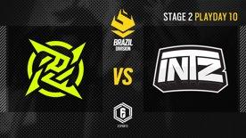 Ninjas in Pyjamas vs. INTZ - LATAM League 2021   Stage 2 - Playday 10   #BR6