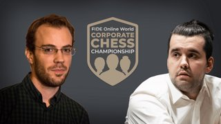 FIDE World Corporate Championship FINALS w/ hosts Hess and Cramling | !corpdonate