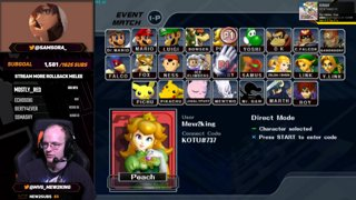 Mew2King Coaches Samsora in Melee