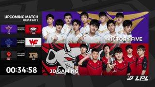V5 vs. JDG | ES vs. WE | TES vs. RNG - Week 9 Day 7 | LPL Summer Split (2020)